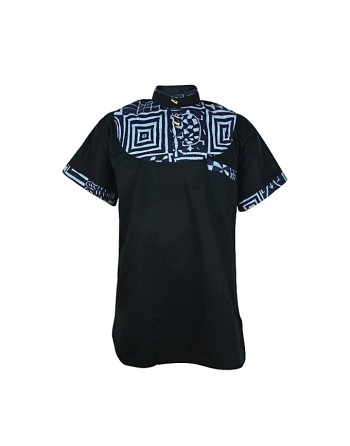Black Short Sleeve Toghu...