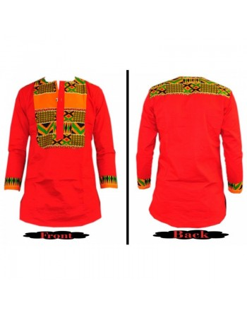 Red designer fashion shirt